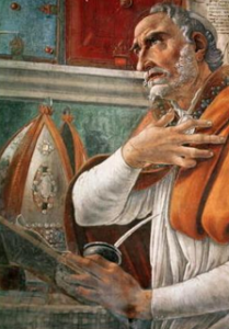Augustine in study