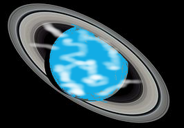 primordial water Earth with jets forming ice rings