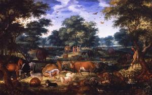 painting of the garden of Eden