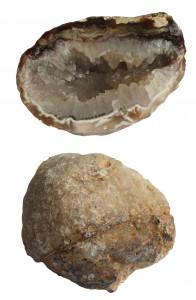 quartz filled hollow geode