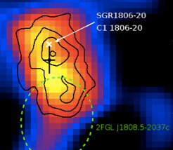 SGR 1806-20 shoots our pulses of matter
