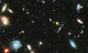 Hubble Utra Deep field (UV) with galaxy 3031