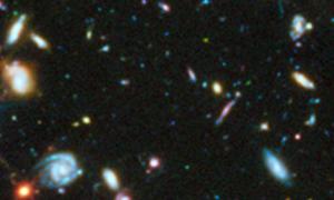 Hubble Utra Deep field (UV) with galaxy 3031
